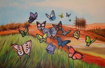 Painting - Butterflies by Jorge Parellada