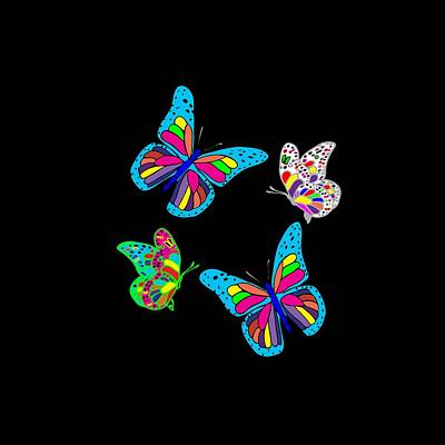 Digital Art - Butterflies by Judy Hall-Folde