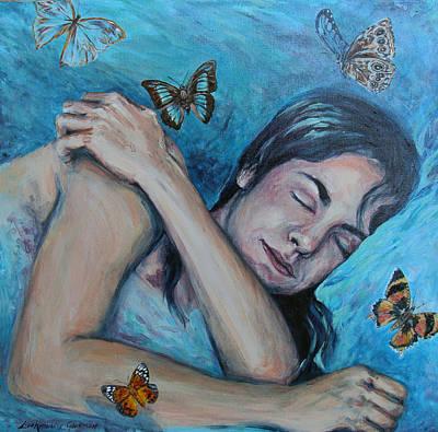 Painting - Butterflies Of Sleep by Lisa Kimberly Glickman
