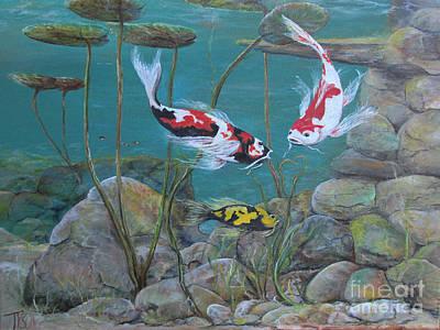 Butterflies Of The Pond Art Print