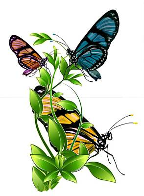 Jewelry - Butterflies On Leaves by Ericamaxine Price