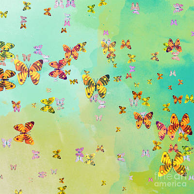 Bug Digital Art - Butterflies On Springtime by Gaspar Avila
