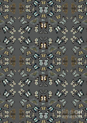 Symmetry Tapestry - Textile - Butterflies Placement by Stephanie Davies