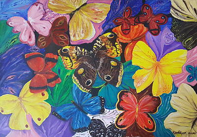 Painting - Butterflies by Rita Fetisov