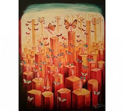 Painting - Butterflies by Santiago Ribeiro