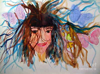 Painting - Butterflies Tangled In My Hair by Sandy McIntire