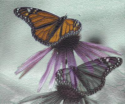Butterflies Under Glass Art Print by Evelyn Patrick