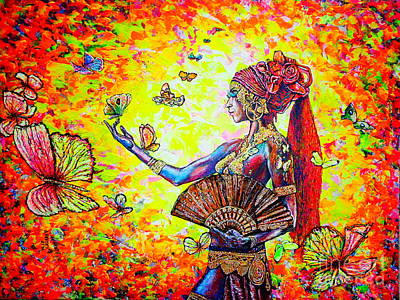 Painting - Butterflies by Viktor Lazarev