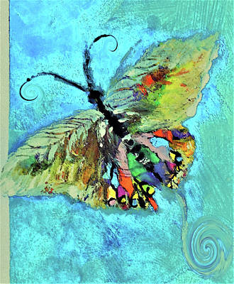 Digital Art - Butterfliy On Butterfly Art By Lisa Kaiser by Lisa Kaiser
