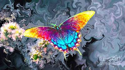 Painting - Butterfly - by Alexander Del Rey