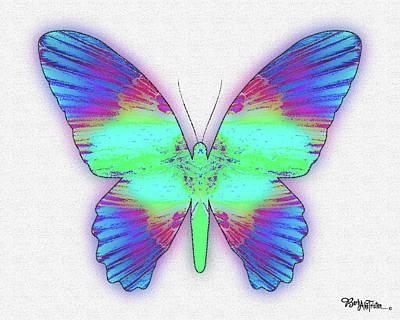 Digital Art - Butterfly Poise #024 by Barbara Tristan