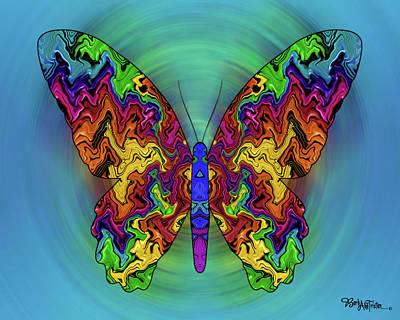 Digital Art - Butterfly Dreams #025 by Barbara Tristan