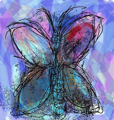 Painting - Butterfly 1 by Jim Vance