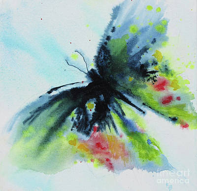 Painting - Butterfly 1 by Karen Fleschler