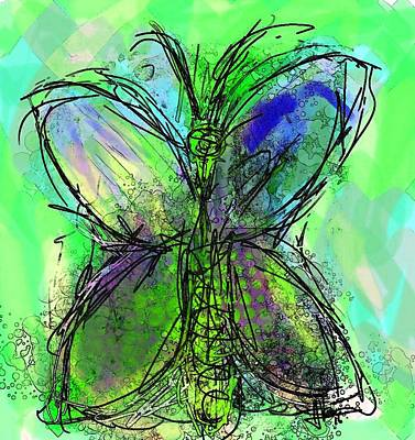 Painting - Butterfly 2 by Jim Vance