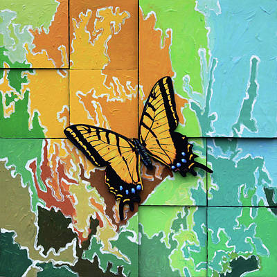 Painting - Butterfly #2 by John Lautermilch