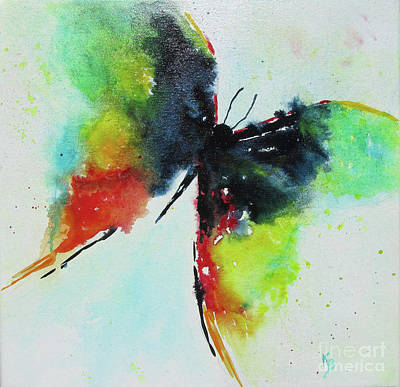 Painting - Butterfly 2 by Karen Fleschler