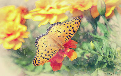 Butterfly Painting - Butterfly-20-amazing Paintings by Nikolay Ivanov