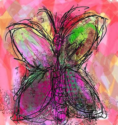 Painting - Butterfly 3 by Jim Vance