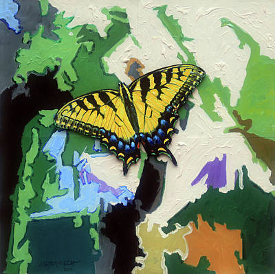 Painting - Butterfly #3 by John Lautermilch