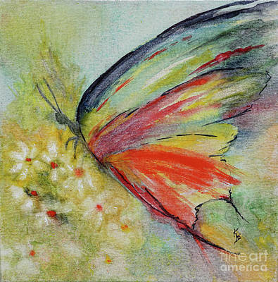 Painting - Butterfly 3 by Karen Fleschler