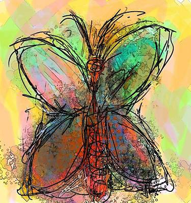 Painting - Butterfly 4 by Jim Vance