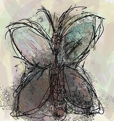 Painting - Butterfly 5 by Jim Vance