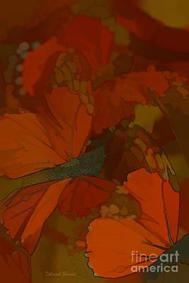 Butterfly Abstract Art Print by Deborah Benoit