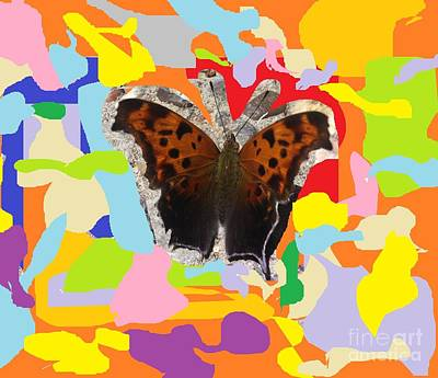 Electronics Painting - Butterfly Abstraction by Cezean Mat