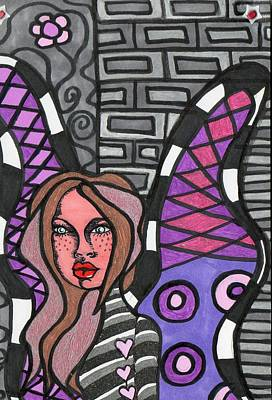 Mixed Media - Butterfly by Agatha Green