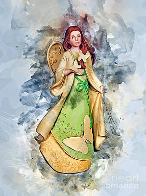 Fantasy Digital Art - Butterfly Angel by Ian Mitchell