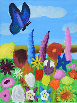 Butterfly Art Print by Artists With Autism Inc