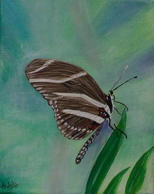 On Cavas Painting - Butterfly by Arohika Verma