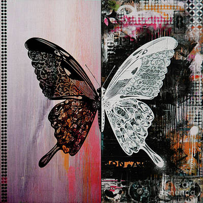 Butterfly Art 45h Art Print by Gull G