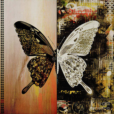 Eating Entomology Painting - Butterfly Art 78y by Gull G