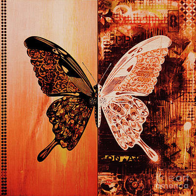 Eating Entomology Painting - Butterfly Art 88u by Gull G