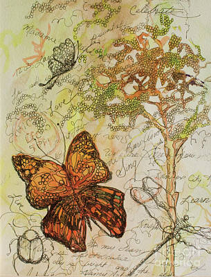 Butterfly Art Journal Art Print by Michele Hollister - for Nancy Asbell
