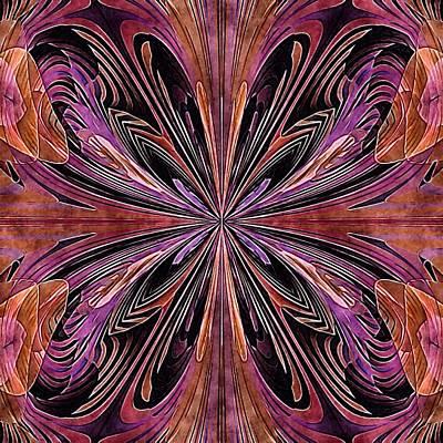 Butterfly Art Nouveau Art Print by Susan Maxwell Schmidt