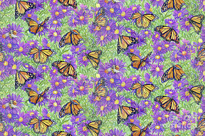 Asters Painting - Butterfly Ball by Kimberly McSparran