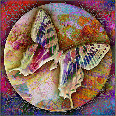 Luminous Digital Art - Butterfly by Barbara Berney