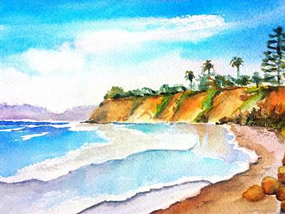 Painting - Butterfly Beach Santa Barbara by Carlin Blahnik CarlinArtWatercolor