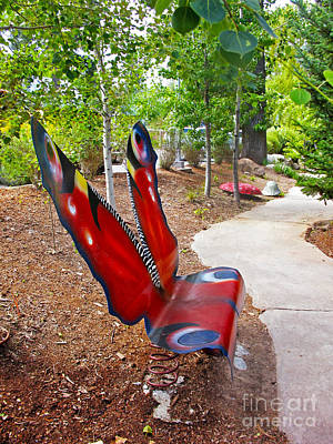 Photograph - Butterfly Bench by Cindy Murphy - NightVisions