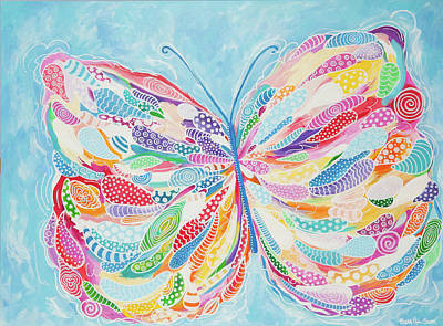 Painting - Butterfly by Beth Ann Scott