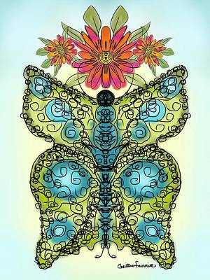 Painting - Butterfly Bliss by Christine Fournier