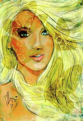 Painting - Butterfly Blonde by P J Lewis