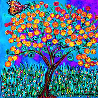 Painting - Butterfly Bloom by Gina Nicolae Johnson