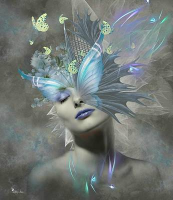 Digital Art - Butterfly Blue by Ali Oppy
