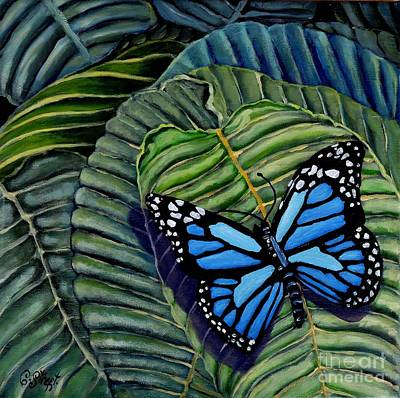Painting - Butterfly Blue by Caroline Street