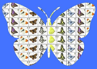 Digital Art - Butterfly - Blue by Gary Hogben