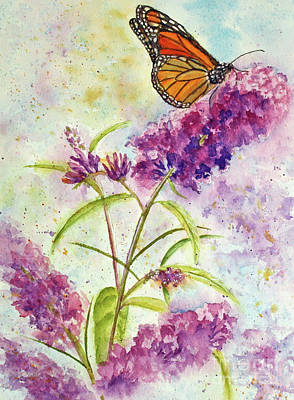 Nature Painting - Butterfly Blues by Kathryn Duncan